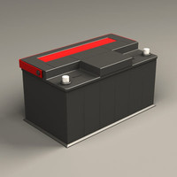 car battery 3d model
