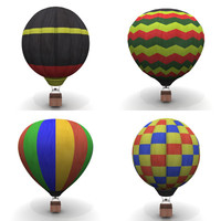 3d hot air balloons