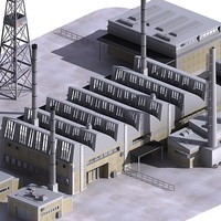 3d industrial factory model