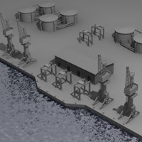 3d industrial harbor model