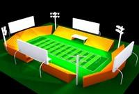 football field 3d model
