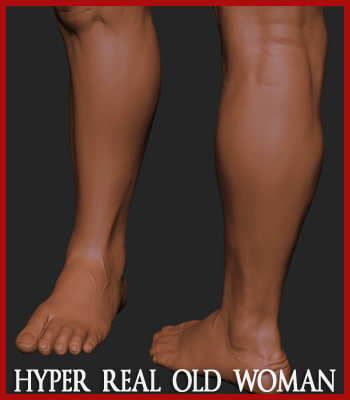 3d hyper-real old woman anatomy - Old Woman - Hyper-real anatomy... by shadeCGI