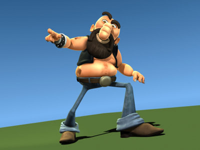 3d model man cartoon - Motor Man... by savagery