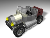 3d lego adventure rover model