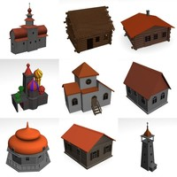 russian houses 3d 3ds