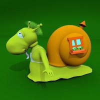 3d snail toon model