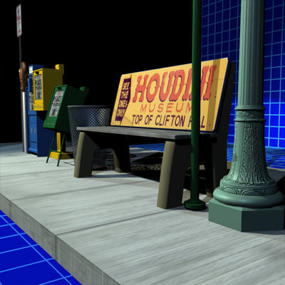 sidewalk prop 01 3d model - Sidewalk Props 01... by 3dpiefx