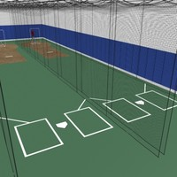 3d batting cages baseball