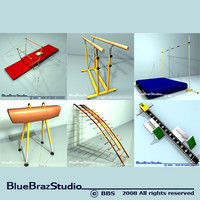 3ds max gimnastic equipment