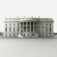 3d whitehouse white house model