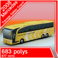 3d mercedes-benz travego safety coach model