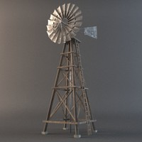 3ds max old wooden windmill