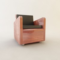 mid-century modern club chair max