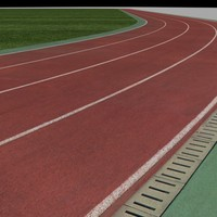 3d athletic fields 4 tracks model