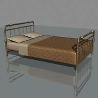 brass bed 3d 3ds