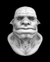 A head of an orc