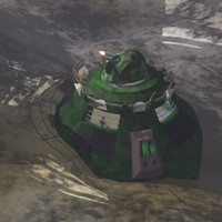 bunker armored military 3d model