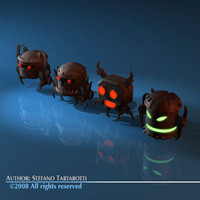 3d model enemy robots