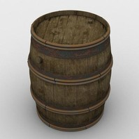 obj french wine barrel