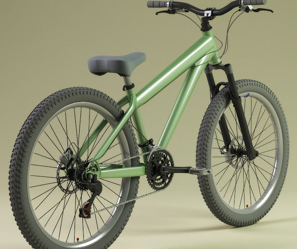 mountain bikes 3d model - Bikes Collection... by 3d_molier