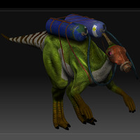 3ds max dinosaur gas mask