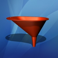 3d model funnel plastic liquid