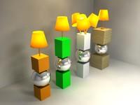 modern lamp 3d 3ds