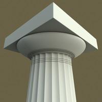 3d model of doric column paestum