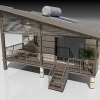 bungalow 3d model