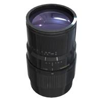 lens sigma af70-300mm f4-5 3d model