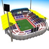 3d soccer football stadium