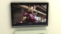 samsung tv fireplace 3d max
