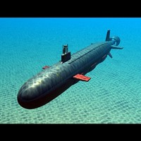 virginia submarine uss navy 3d 3ds
