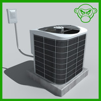ac unit air conditioning 3d model
