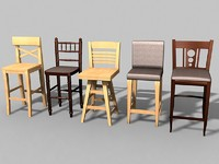 bar chairs 3d max