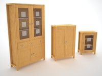lwo wooden cabinet wood