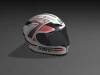 3d model of helmet agv