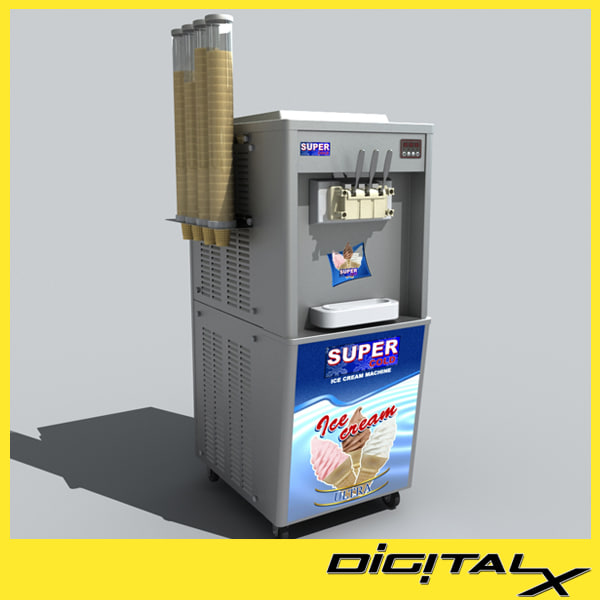 3dsmax ice cream machine - ice cream machine... by DigitalX