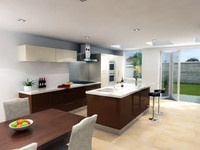 Modern Kitchen - with island