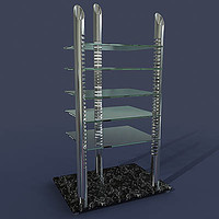 3d model of hifi-rack liko topview