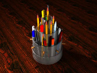 3d pencil holder
