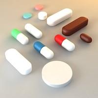 medical pills 3d model