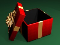 3dsmax present gift box opening