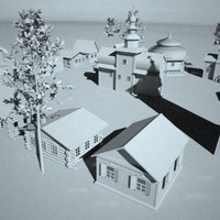 3d model of russian town