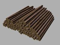 3d model pile wood
