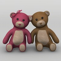 3d teddy bears model