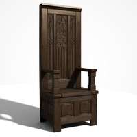 3d chair throne model