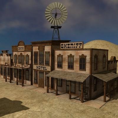 Stl Finder 3d Models For Western Town Max