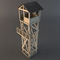 3d guard tower model