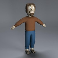character cartoon guy obj